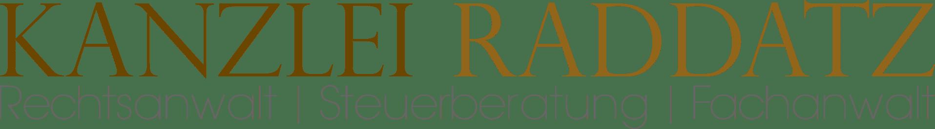 Logo 18.07.2016 300dpi - Rechstanwalt | Steuerberater | Fachanwalt Hattingen: Anwalts- und Steuerkanzlei Raddatz